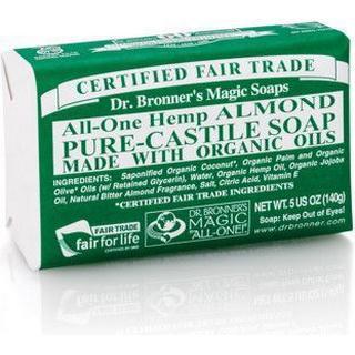 Dr. Bronners Pure-Castile Almond Bar Soap 140g