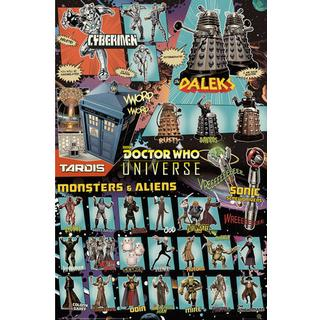 EuroPosters Doctor Who Characters Poster V33105 61x91.5cm