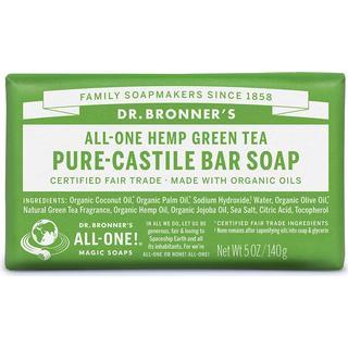 Dr. Bronners Pure-Castile Bar Soap Green Tea 140g