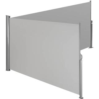 tectake Aluminium double side awning privacy screen 600x180cm