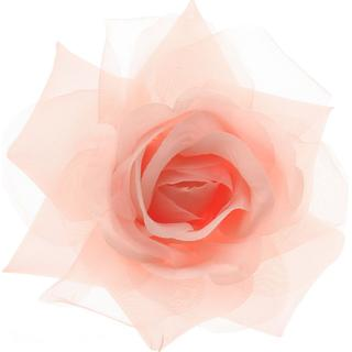 Claire's Light Pink Mesh Rose Hair Clip
