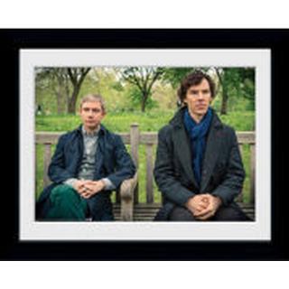 GB Eye Sherlock Park Bench 30x40cm Framed art