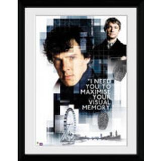 GB Eye Sherlock Memory 30x40cm Framed art