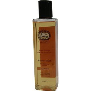 Roots&Wings Sweet Orange & Rose Geranium Shower Wash 250ml