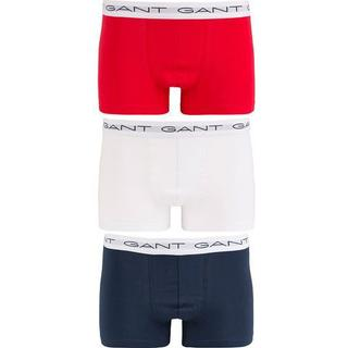Gant Stretch Cotton Trunks 3-pack - Multicolor