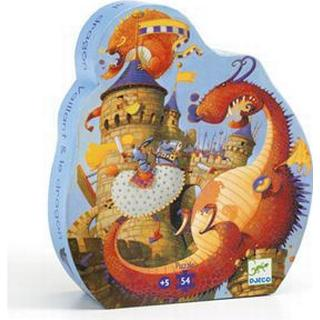 Djeco Valiant and the Dragon Silhouette Puzzle 54 Pieces
