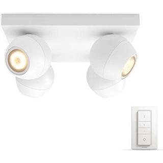 Philips Hue White Ambiance Buckram 4-spot Ceiling Flush Light