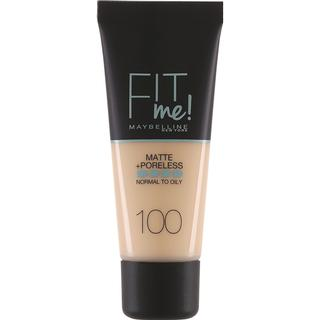 Maybelline Fit Me Matte + Poreless Foundation #100 Warm Ivory