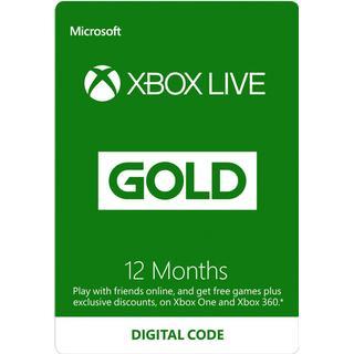 Microsoft Xbox Live Gold Membership - 12 months