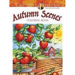Autumn Scenes Coloring Book, Paperback