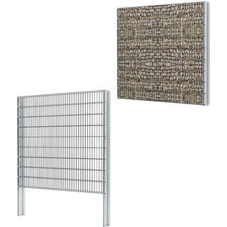 vidaXL 2D Gabion Fence Set 8mx183cm