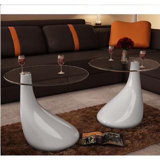 vidaXL 240322 Drop 2pc Coffee Tables