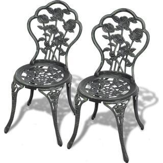 vidaXL Bistro 2-pack Garden Dining Chair