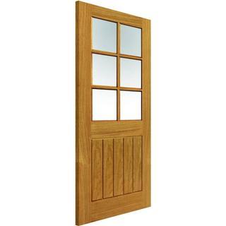 JB Kind Thames 6 Light Unfinished Interior Door Clear Glass (62.6x204cm)