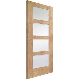 XL Joinery Shaker 4 Light Pre-Finished Interior Door Clear Glass (68.6x198.1cm)