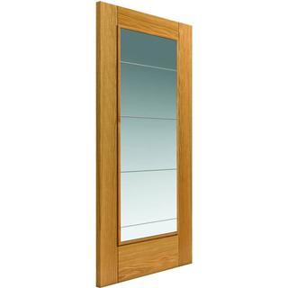 JB Kind Medina Pre-finished Interior Door Clear Glass (62.6x204cm)