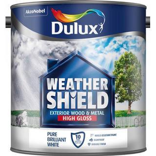 Dulux Weathershield Exterior Wood Paint, Metal Paint White 2.5L