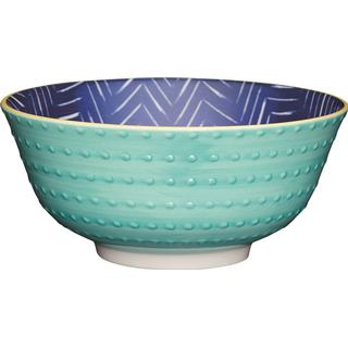 Kitchencraft Contrasting Blue Chevron and Spotty Serving Bowl 15.7 cm