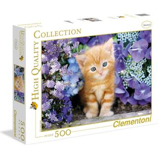 Clementoni High Quality Collection Ginger Cat in Flowers 500 Pieces