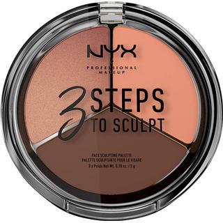 NYX 3 Steps to Sculpt Face Sculpting Palette Deep
