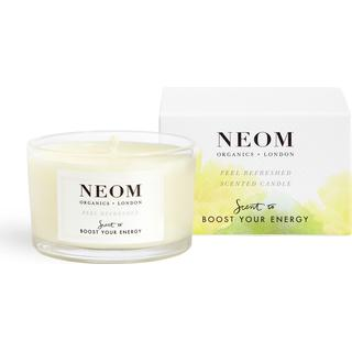 Neom Organics Feel Refreshed Travel Scented Candle Sicilian lemon & Fresh Basil 75g