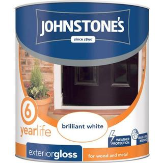 Johnstones Weatherguard 6 Year Exterior Gloss Wood Paint, Metal Paint White 2.5L