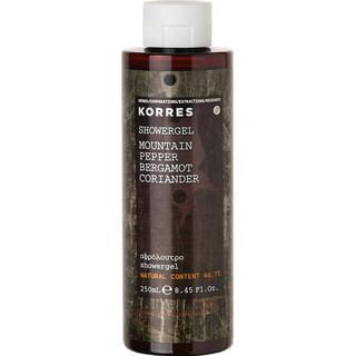 Korres Mountain Pepper Bergamot Coriander Shower Gel 250ml