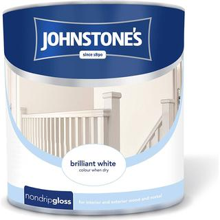 Johnstones Non Drip Gloss Wood Paint, Metal Paint White 2.5L