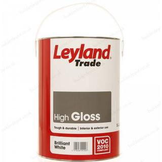 Leyland Trade High Gloss Wood Paint, Metal Paint White 5L