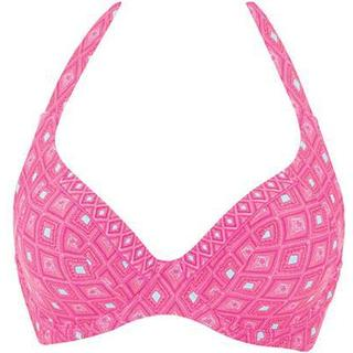Curvy Kate Revive Halterneck Bikini Top - Pink Print