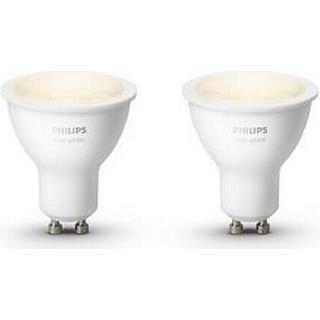 Philips Hue White 2700K LED Lamps 5.5W GU10 2-Pack