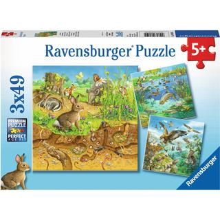 Ravensburger Animals in Nature 3x49 Pieces