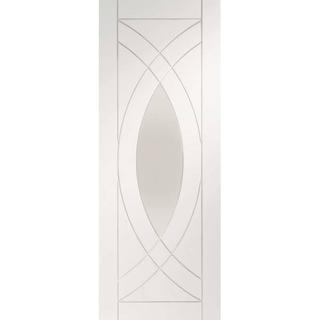 XL Joinery Treviso Primed Interior Door Clear Glass (76.2x198.1cm)