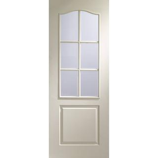 XL Joinery Classique 6 Light Moulded Interior Door Clear Glass (72.6x204cm)