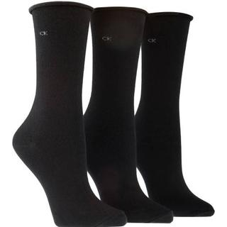Calvin Klein Emma Roll Top Crew Socks 3-pack - Black