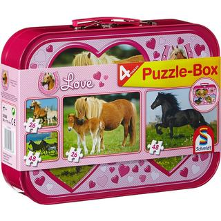 Schmidt Horses 4 in Box 148 Pieces