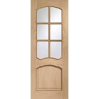 XL Joinery Riviera Raised Mouldings Interior Door Clear Glass (76.2x198.1cm)