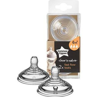 Tommee Tippee Closer To Nature Fast Flow Nipple 6m+ 2 Count