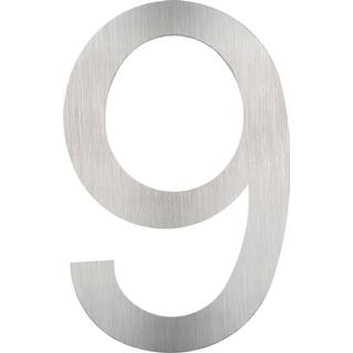 tectake House numbers made of stainless steels 9