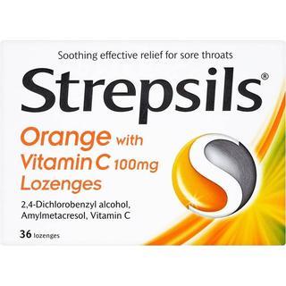 Strepsils Orange with Vitamin C 100mg 36pcs