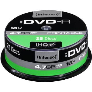 Intenso DVD-R 4.7GB 16x Spindle 25-Pack Inkjet (4801154)
