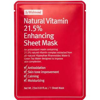 Wishtrend Natural Vitamin 21.5 Enhancing Sheet Mask 23ml