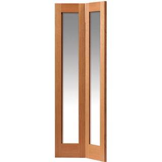 JB Kind Fuji Unfinished Folding Door Clear Glass (76.2x198.1cm)