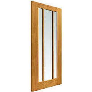 JB Kind Darwen Unfinished Interior Door Clear Glass (72.6x204cm)
