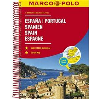 Spain and Portugal Marco Polo Road Atlas (Spirales, 2018)