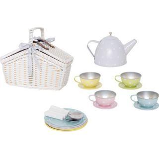 Jabadabado Picnic Basket Tin Tea Set Pastell G12017