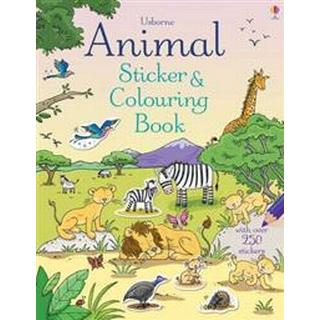 Animal Sticker and Colouring Book (Paperback, 2014)