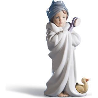 Lladro Bundled Bather Girl Figurine