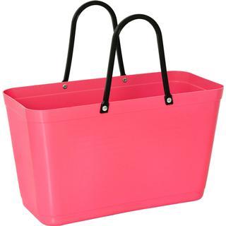 Hinza Shopping Bag Large (Green Plastic) - Tropical Pink