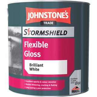 Johnstone's Trade Stormshield Flexible Gloss Wood Paint White 2.5L